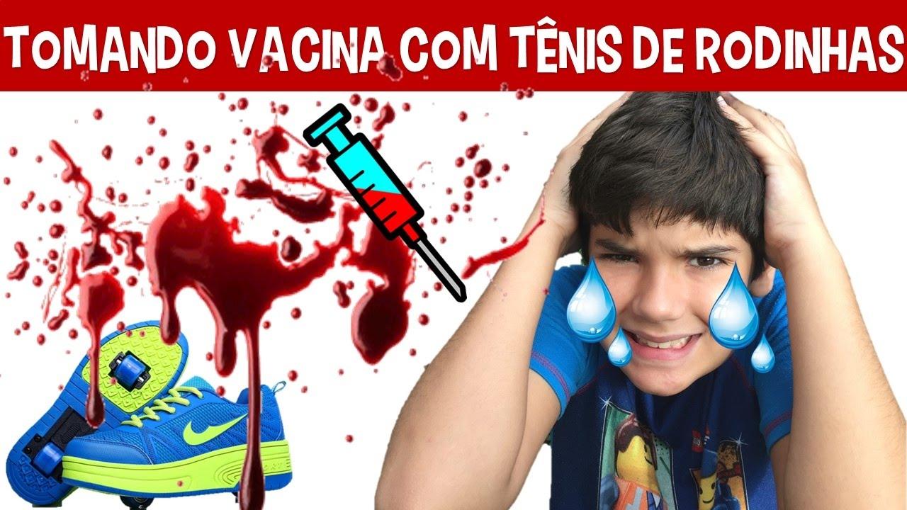 6d27ce9a6 TOMANDO VACINA COM TÊNIS DE RODINHA - YouTube