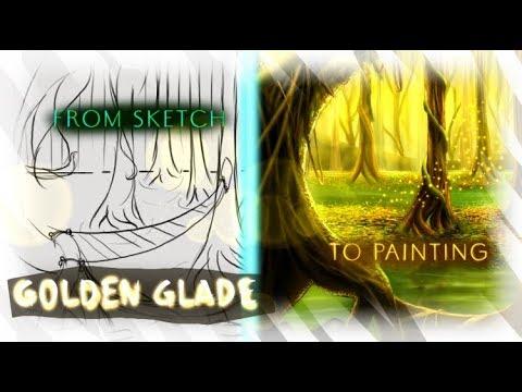 Golden Glade | Medibangpaint Speedpainting + Landscape Mini-tutorial