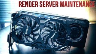 Render Server Upgrades, Troubleshooting & GTX 750ti Unboxing!