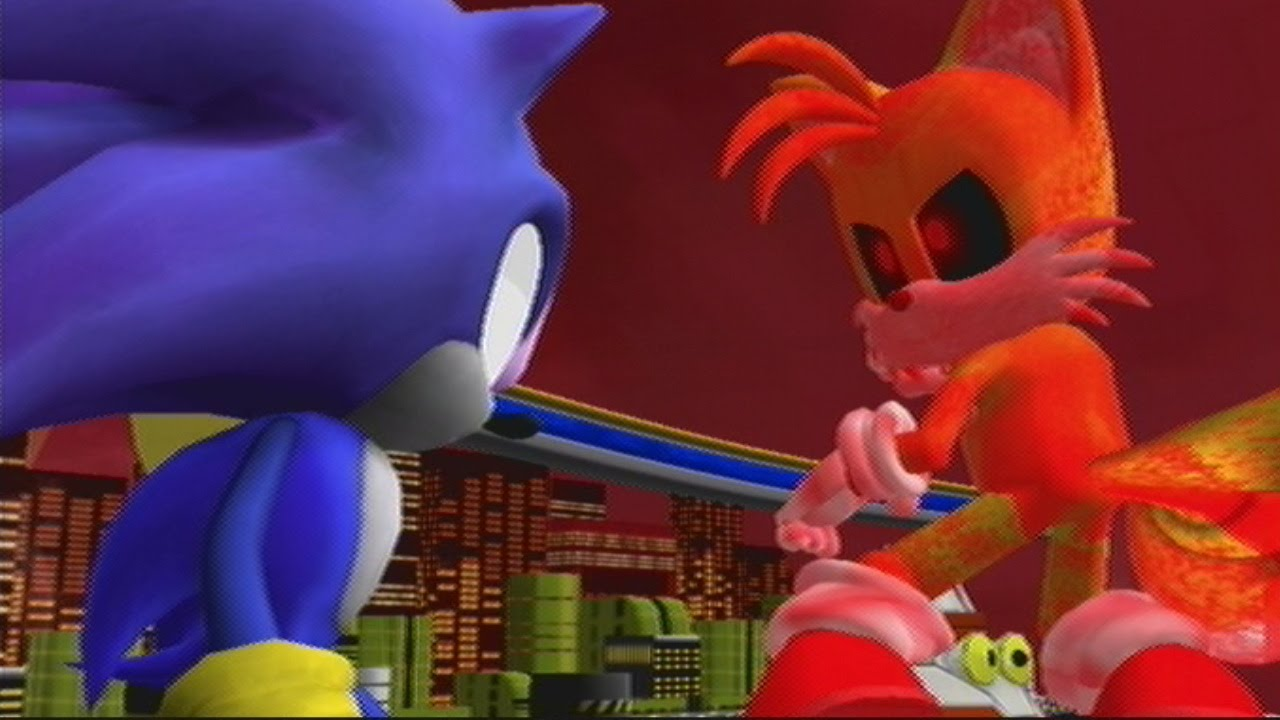 Tails Exe Vs Darkspine Sonic Youtube