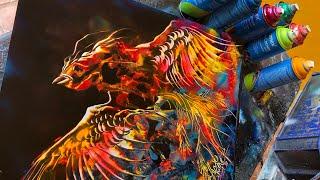 Ave Fénix Spray Paint Art