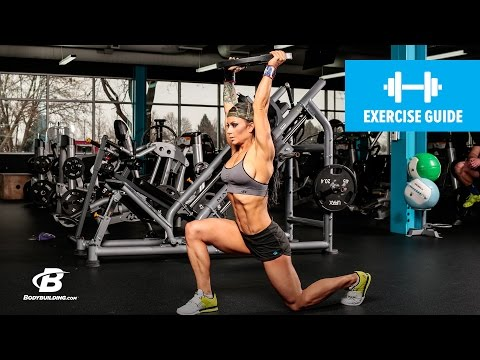 How To Do A Walking Lunge with Weight Overhead | Exercise Guide