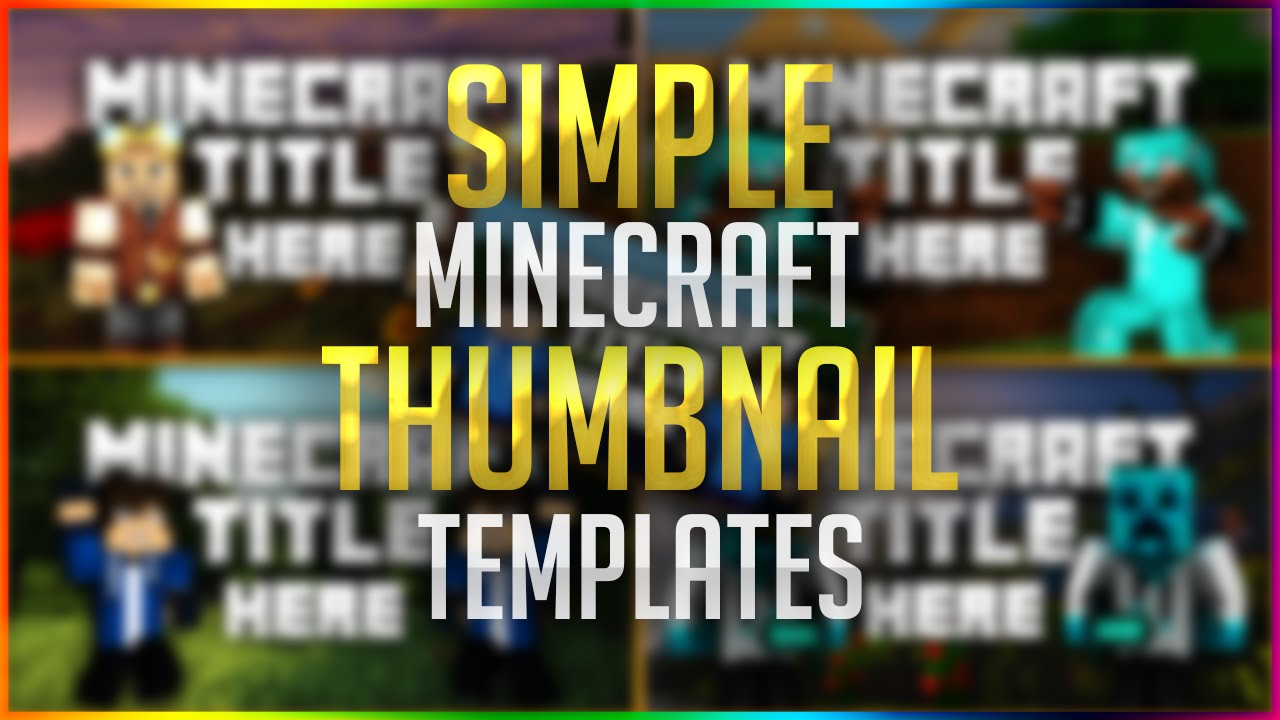 minecraft thumbnail template free psd 2016 youtube