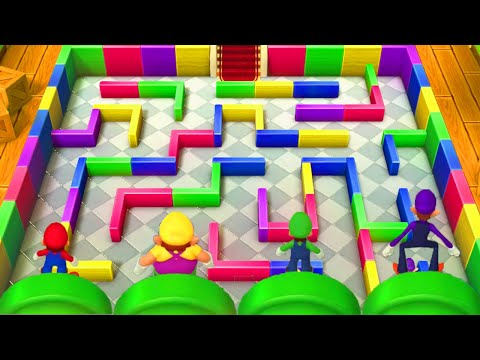 Mario Party 10 - Minigames - Mario vs Luigi vs Wario vs Waluigi (Master CPU)