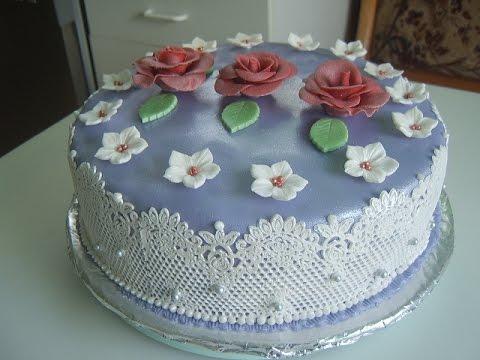 полный рецепт торта покрытый мастикой видео