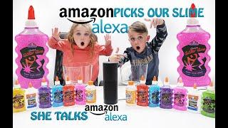 Amazon Alexa Picks Our Slime Ingredients Slime Challenge!!DUMP IT