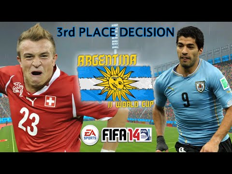 Switzerland vs Uruguay - FIFA14 - Argentina 2nd World Cup 3rd Place Decision