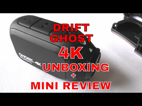 Drift Ghost 4K action camera Unboxing and mini review by Fat Lad on a Bike