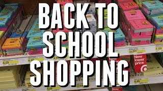 BACK TO SCHOOL SUPPLIES SHOPPING VLOG | COLLEGE EDITION