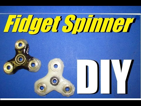 How to Make a Fidget Spinner out of HOT GLUE!?