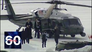 Трамп прилетел в Давос на шести вертолетах. Видео