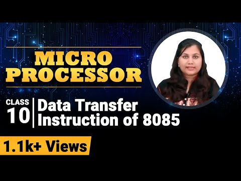 Data Transfer Instructions Of 8085 - Instruction Set Of 8085 Microprocessor - Microprocessor