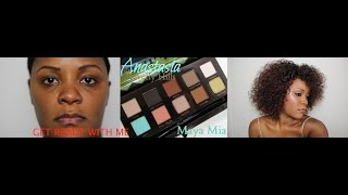 GET READY WITH ME : BEFORE & AFTER / MAKE-UP AND HAIR / PALETTE MAYA MIYA / ANASTASIA BEVERLY HILLS