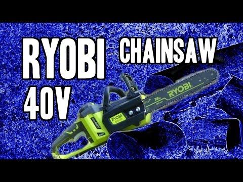 Ryobi 14 Inch 40 Volt Brushless Chainsaw Youtube