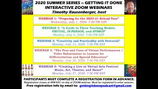 POSITIVE MOTIVATION: Planning for the 2020-21 School Year - Teachers/Lessons/Guidelines (Webinar 1)