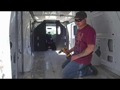 CAMPER VAN BUILD DAY # 1 (Bed Frame ) BUG OUT Vehicle