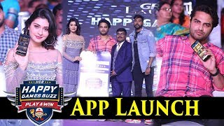 Payal Rajput andamp; Vishwak Sen at  Happy Games Buzz App Launch Event I Silver Screen