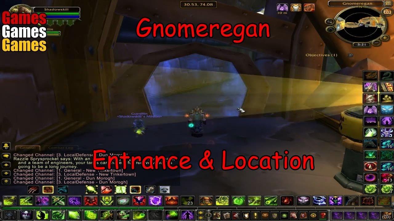 gnomeregan entrance location world of warcraft original dungeons youtube. Black Bedroom Furniture Sets. Home Design Ideas