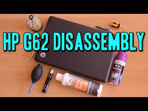 HP G62 Disassembly and Cleaning