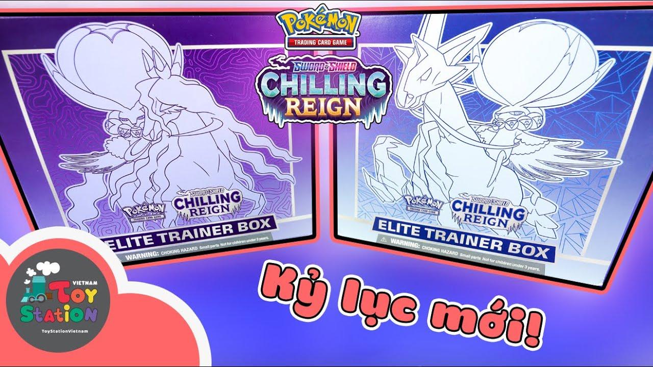 Kỷ lục mới khi mở 2 hộp Elite Trainer Box Chilling Reign Pokemon TCG ToyStation 607