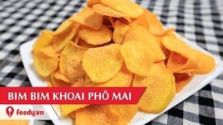 hướng dẫn cch lm bim bim khoai lang ph mai sweet potato snack with cheese