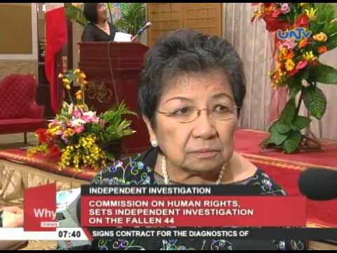 Commission on Human Rights, sets independent investigation on the Fallen 44