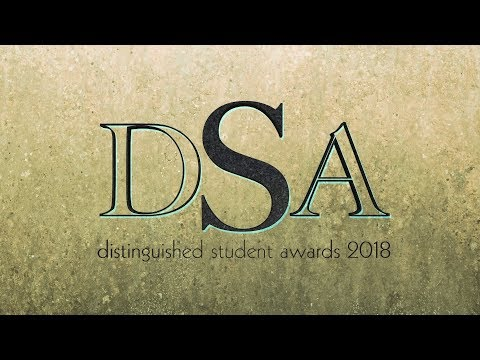 Distinguished Student Awards - 2018
