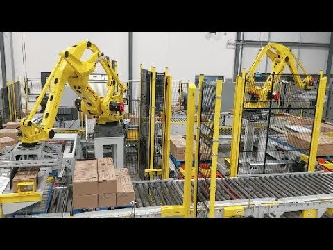Multi-line Robotic Palletizing And Stretch Wrapping System – StrongPoint Automation
