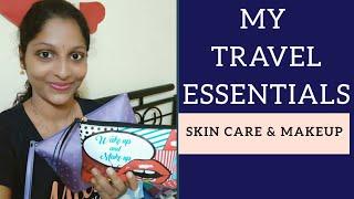 My Travel Essentials || Skincare & Makeup || Divya Vlogz in Telugu