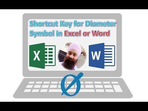 Shortcut Key for Diameter Symbol in Excel | Shortcut Key for Insert Symbol in MS Excel