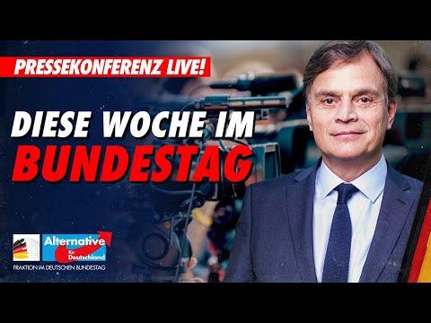 Live: Pressekonferenz der AfD-Fraktion - Diese Woche im Bundestag!