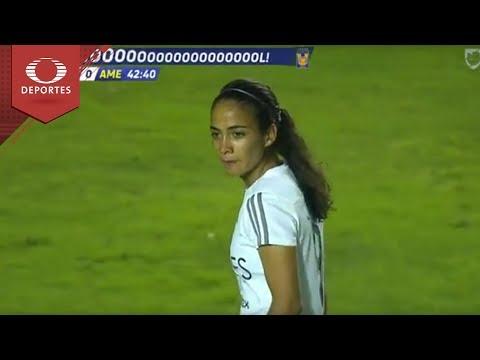 Gol de Jaramillo | Tigres 2 - 0 América | Liga MX Femenil - Semifinal Ida | Televisa Deportes