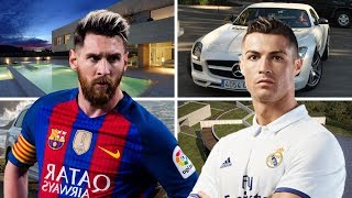 Cristiano Ronaldo vs Lionel Messi || Net Worth - House - Cars - Salary - Family - Lifestyle - 2018