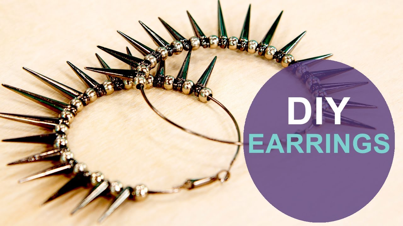 how to make spike hoop earrings: the diy challenge on the mom's