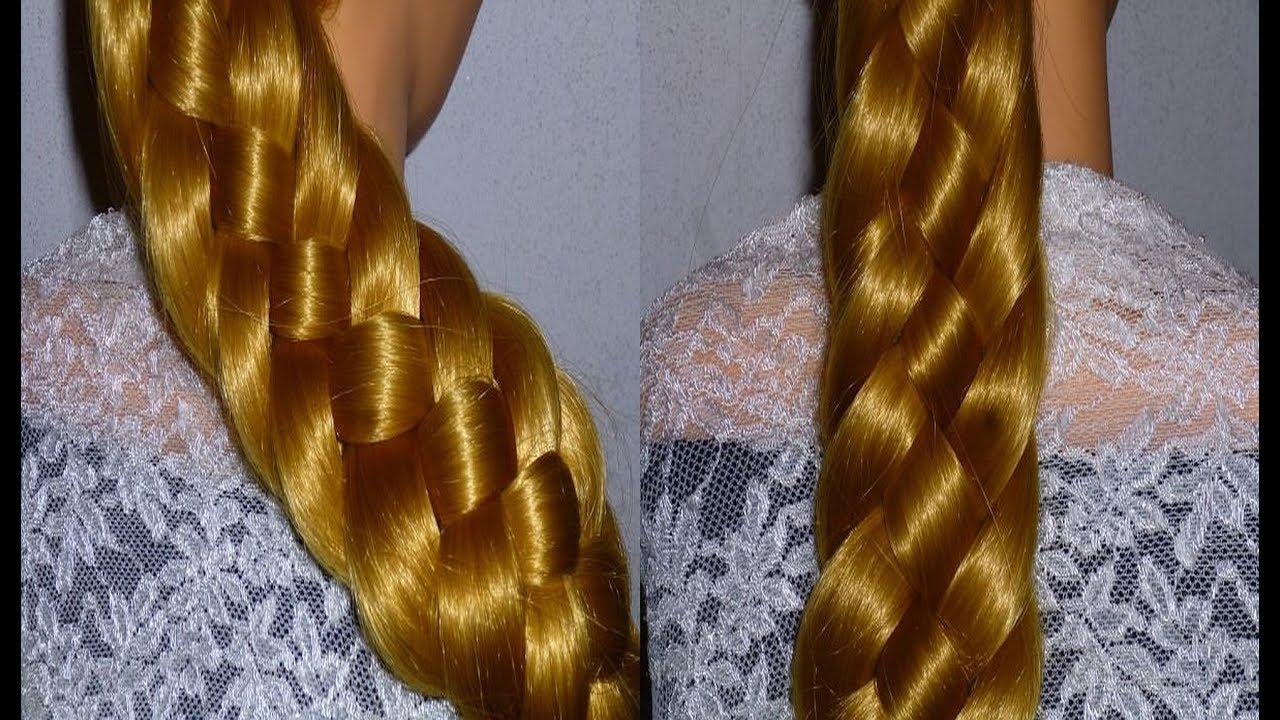 Урок по плетению косичек. Коса из 6 прядей. Причёски для детей в школу ЛЁГКО!!