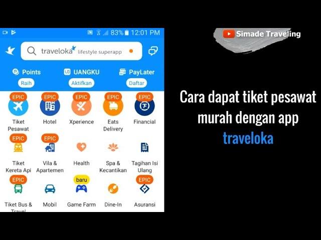Cara dapat tiket pesawat murah dengan Aplikasi Traveloka