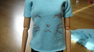 How To Make Barbie T-shirt - Tutorial