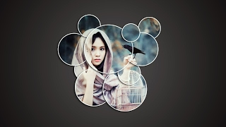 Photoshop Tutorial: How to make photo collage | How To Create Circle collage