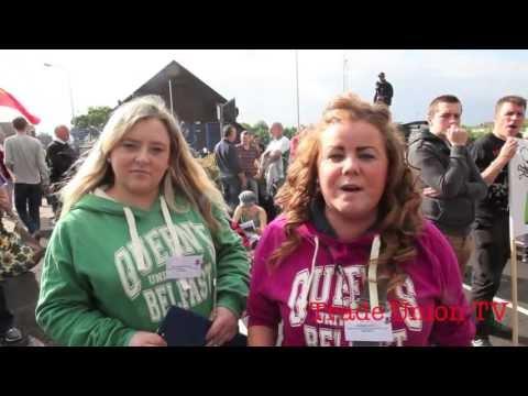 Protest at G8 Enniskillen, Co Fermanagh, Northern Ireland 17th June 2013