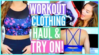 WORKOUT CLOTHING HAUL & TRY ON! | Casey Holmes