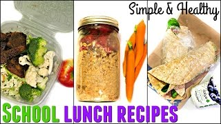 EASY VEGAN SCHOOL LUNCH IDEAS | 3 Recipes for Fitness