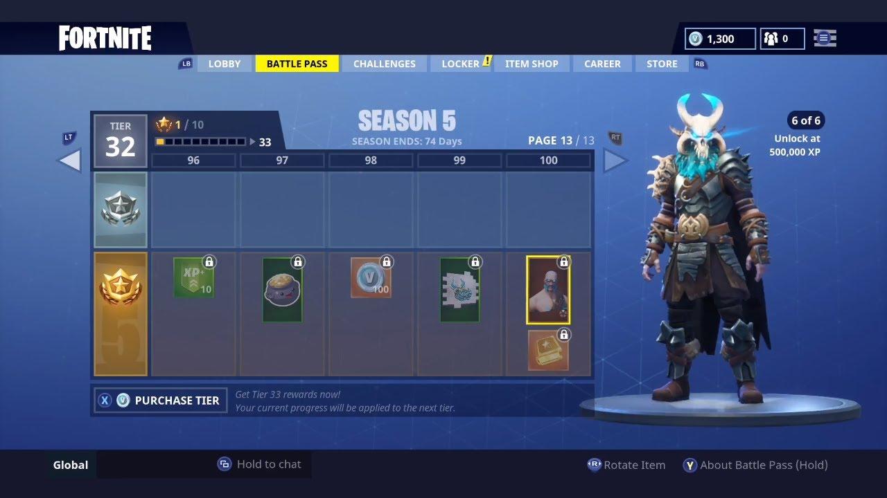 Fortnite Season 5 Tier 100 Skin Ragnarok Full Armor Set Stage 1 6