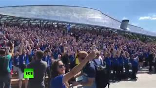 Vikings invade Moscow! Iceland fans gear up ahead of team's clash with Argentina