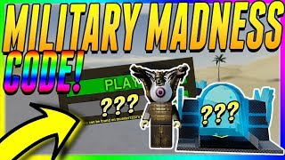 MILITARY MADNESS NEW CODE *FREE UPGRADER* - ROBLOX