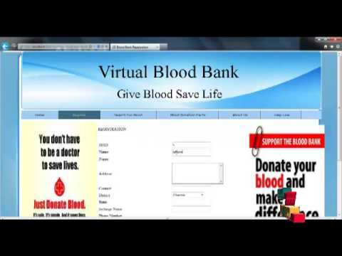 Final year projects virtual blood bank youtube final year projects virtual blood bank ccuart Gallery
