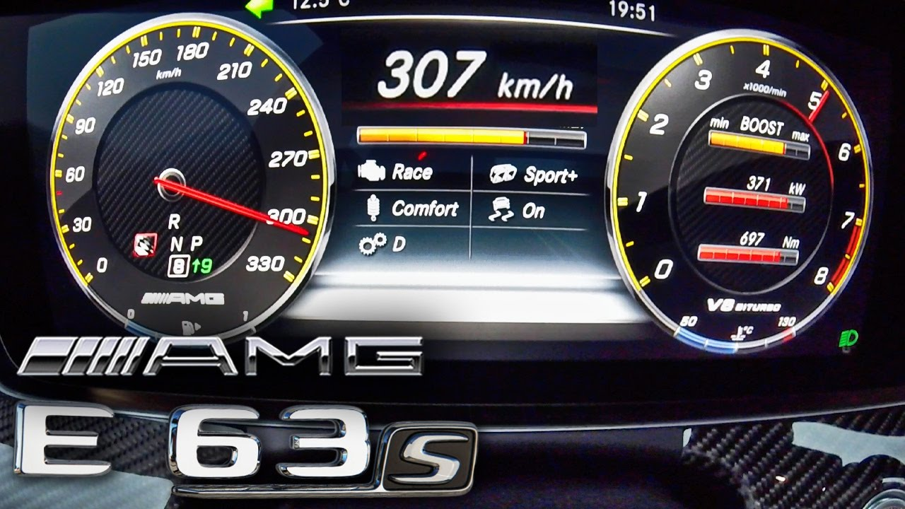 Mercedes AMG E63 S 4Matic 0 307 Kmh TOP SPEED