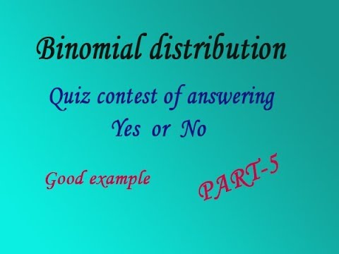 Probability of Binomial distribution explain in simple steps good example(PART-5)