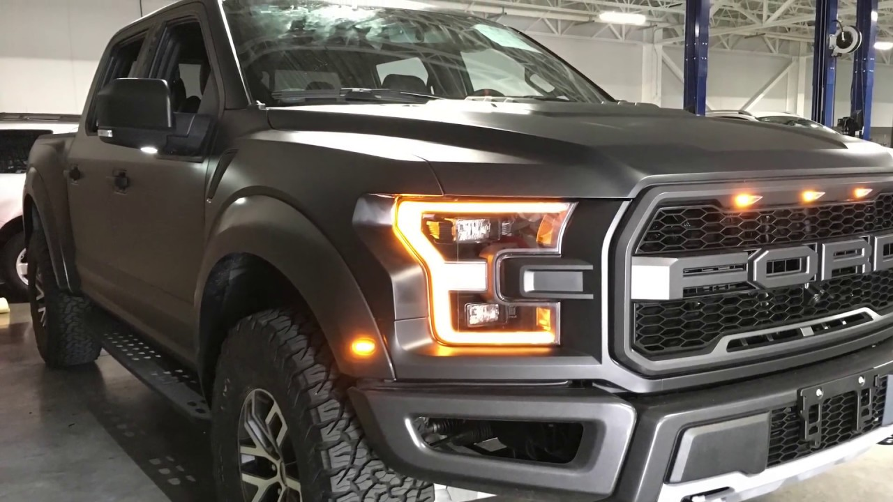 FORD RAPTOR FULL WRAP NEGRO MATE BY RICHWRAPS - YouTube