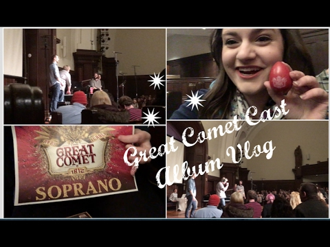 Great Comet Cast Album Vlog