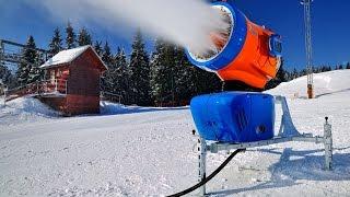 как работает снежная пушка. Как делают настоящий снег